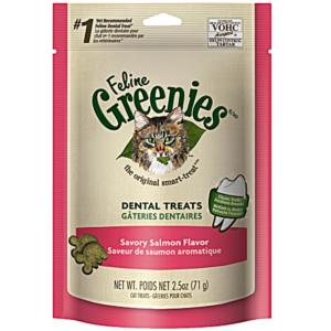 Greenies Feline Dental Treats Savory Salmon - 2.5 oz.