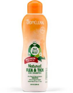 TropiClean Natural Flea and Tick Shampoo Maximum Strength 20 oz