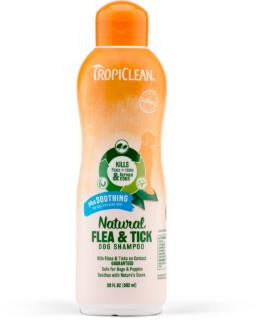 TropiClean Natural Flea and Tick Shampoo Soothing 20 oz