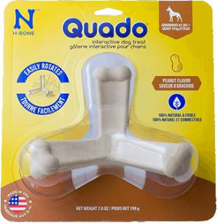 N-Bone Quado Interactive Dog Chew Treat Peanut Flavor - Small