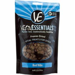 Vital Essentials Freeze Dried Beef Nibllets 2.5 oz