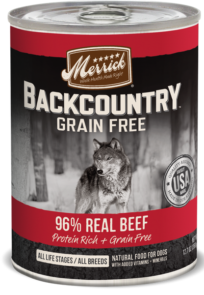 Merrick Backcountry 96% Real Beef Recipe Dog