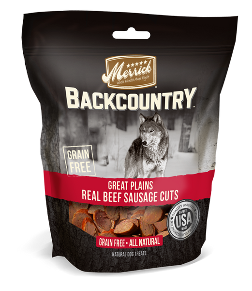 Merrick Backcountry Great Plains Real Beef Sausage Cuts 5Z