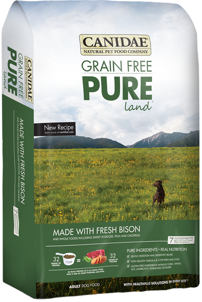 Canidae Grain Free Pure Land With Fresh Bison - Dry Dog 24 lb.