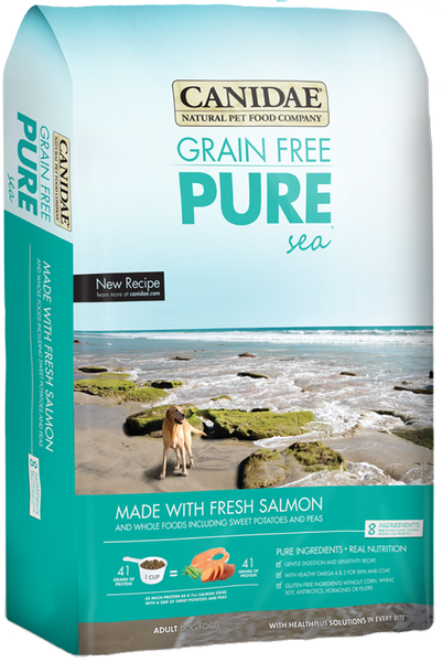 Canidae Grain Free Pure Sea W/Salmon 24 lb.