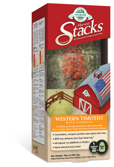 Oxbow Harvest Stacks Western Timothy With Carrot 35 oz.