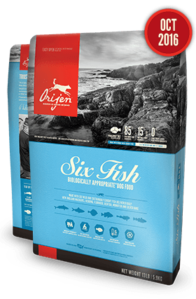 Orijen Six Fresh Fish & Sea Vegetables USA Dog Food  25 lb Bag