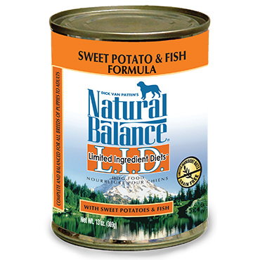 Natural Balance Limited Ingredient Diets Fish & Sweet Potato Canned Dog Food 13 oz