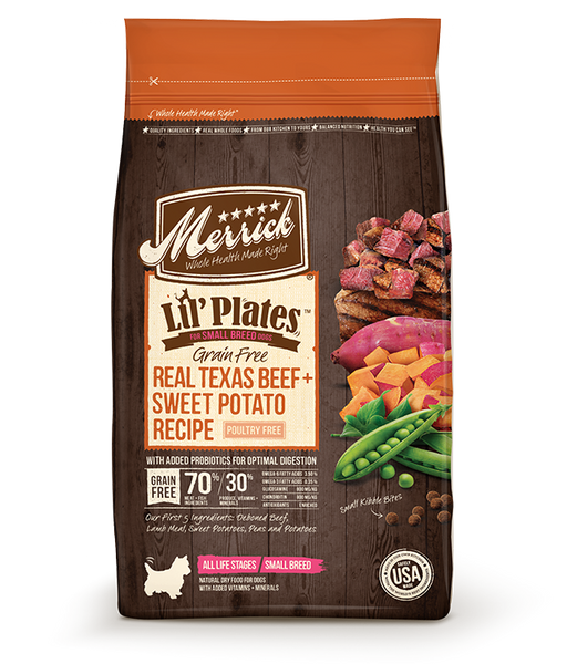 Merrick Lil' Plates Grain Free Real Texas Beef + Sweet Potato Recipe 12lb