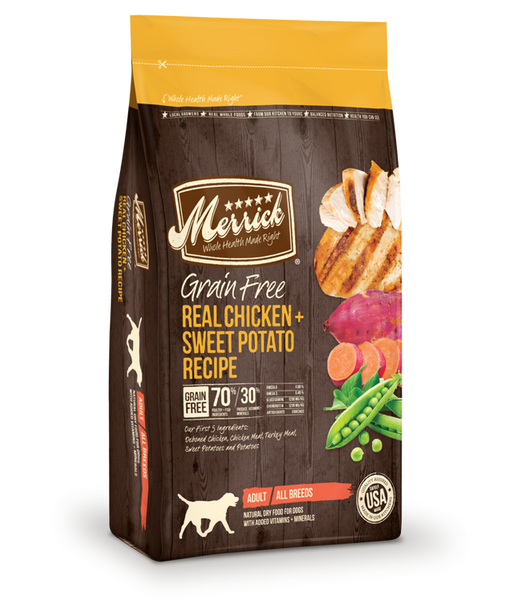 Merrick Grain Free Real Chicken + Sweet Potato Recipe 25 lb