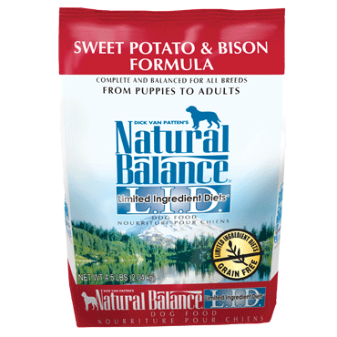 Natural Balance Sweet Potato & Bison Limited Ingredient Diets Dry Dog Food 4.5 lb.