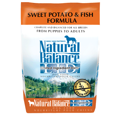 Natural Balance Limited Ingredient Diet Fish & Sweet Potato Dry Dog Food 4.5 lb