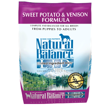 Natural Balance Limited Ingredient Diet Venison & Sweet Potato Dry Dog Food 4.5