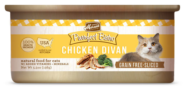 Merrick Purrfect Bistro Chicken Divan 5.5 oz Cat