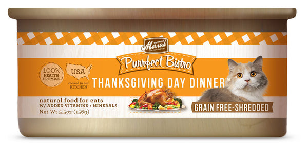 Merrick Purrfect Bistro Thanksgiving Day Dinner 5.5 oz Cat