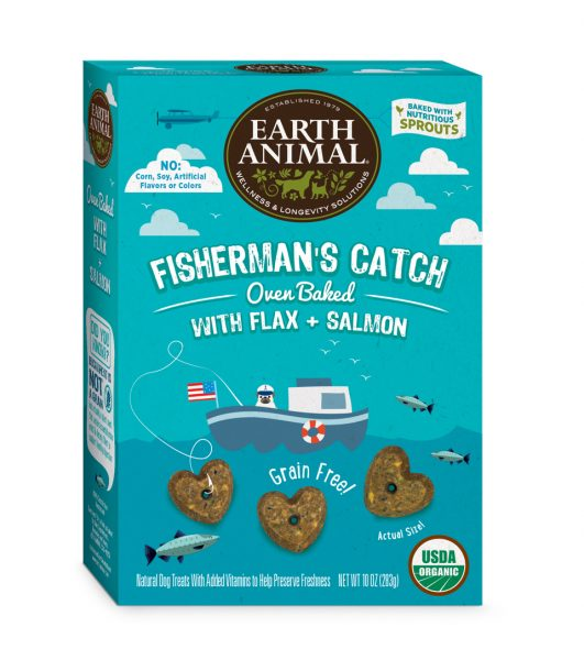 Earth Animal Fisherman's Catch – Flax & Salmon Treats 10 oz