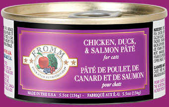 Fromm Four Star Cat Chicken, Duck & Salmon Patte 5.5 oz