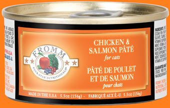 Fromm Four Star Cat Chicken/Salmon Pate 5.5 oz