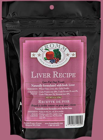 Fromm Four Star Dog Treat Low-Fat Liver 6 oz