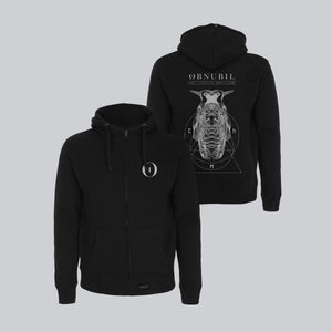 MEN'S HIGH NECK ZIP-UP HOODY • RORSCHACH'S DREAM I