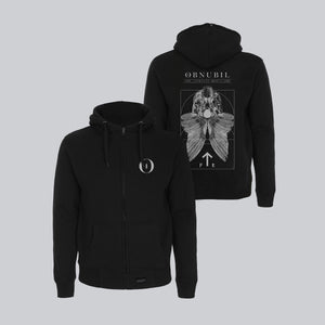 MEN'S HIGH NECK ZIP-UP HOODY • RORSCHACH'S DREAM II