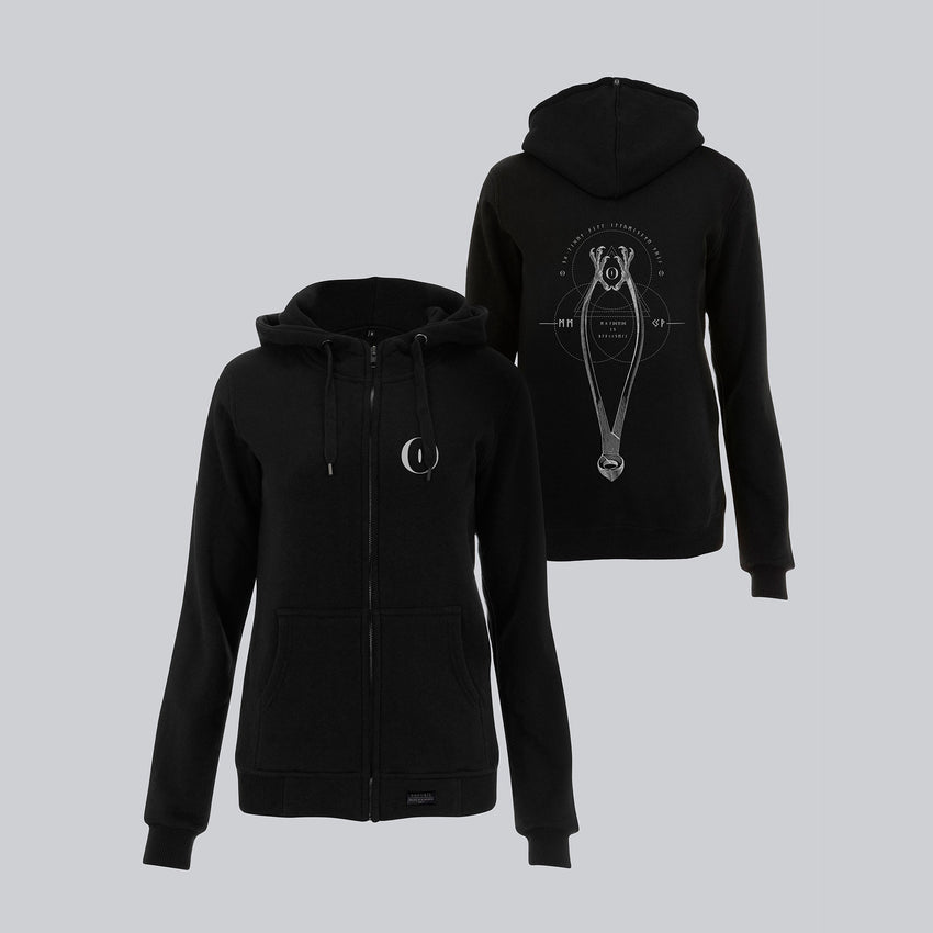 WOMEN'S HIGH NECK ZIP-UP HOODY • MEDICINA MENTIS INSTRUMENTA II