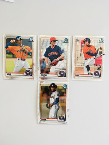 2020 Bowman Chrome Prospects Team Set Series 1 - Houston Astros (4 Cards)