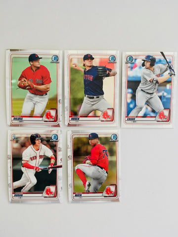 2020 Bowman Chrome Prospects Team Set Series 1 - Boston Red Sox (5 Cards)
