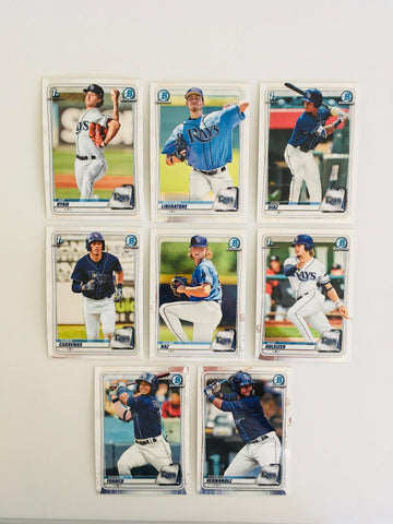 2020 Bowman Chrome Prospects Team Set Series 1 - Tampa Bay Rays (8 Cards)