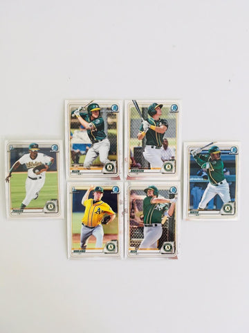 2020 Bowman Chrome Prospects Team Set Series 1 - Oakland Athletics (6 Cards)