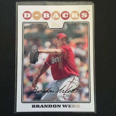 2008 Topps #140 Brandon Webb - Diamondbacks