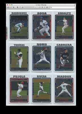 2005 Topps Chrome Series 1 Set 1-220 Kinsler RC, ARod, Cabrerra, Pujols, Rivera