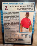 2005 Bowman Chrome X-Fractors #220 Drew Toussaint 201/225-Angels