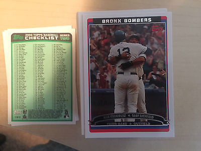 2006 TOPPS COMPLETE SERIES 2 SET HC LOADED W/ RC'S & STARS