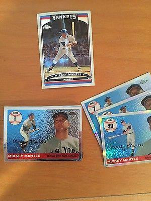 2006 Topps Chrome Mantle Home Run History & Refractors