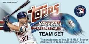 2018 Topps Series 2 Team Set - CLEVELAND INDIANS (10 cards)