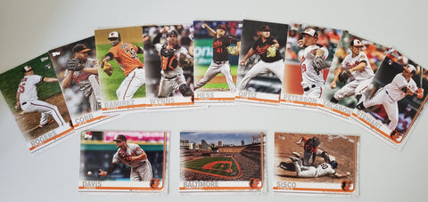 2019 Topps Series 2 Team Set Baltimore Orioles (12 Cards)