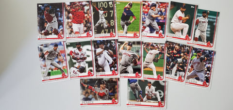 2019 Topps Series 2 Team Set Boston Red Sox (16 Cards)