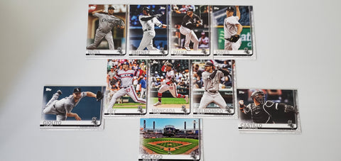 2019 Topps Series 2 Team Set Chicago White Sox (10 Cards)