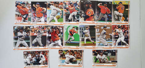 2019 Topps Series 2 Team Set Houston Astros (17 Cards)