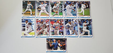 2019 Topps Series 2 Team Set Los Angeles Dodgers (11 Cards)