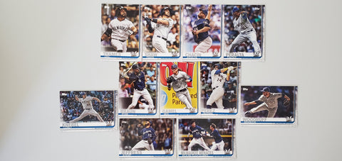 2019 Topps Series 2 Team Set Milwaukee Brewers (11 Cards)