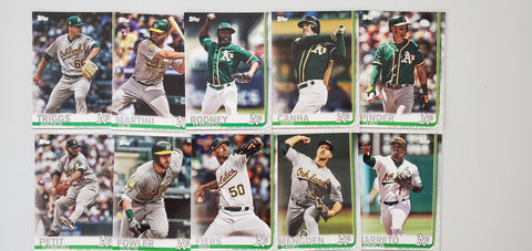 2019 Topps Series 2 Team Set Oakland A's (10 Cards)