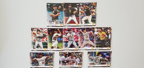 2019 Topps Series 2 Team Set Pittsburgh Pirates (11 Cards)