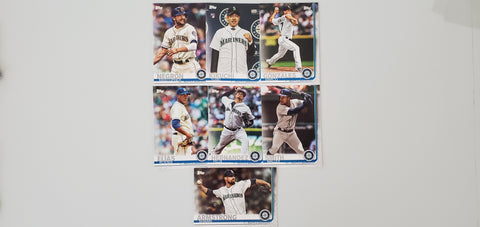2019 Topps Series 2 Team Set Seattle Mariners (7 Cards)
