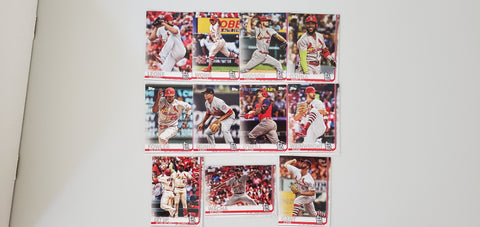2019 Topps Series 2 Team Set St. Louis Cardinals (11 Cards)