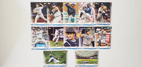 2019 Topps Series 2 Team Set Tampa Bay Rays (12 Cards)