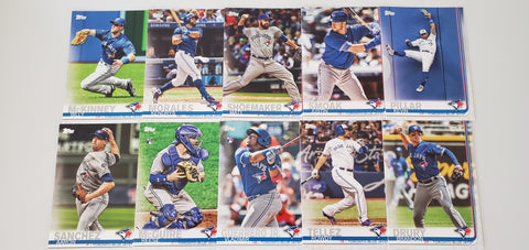 2019 Topps Series 2 Team Set Toronto Blue Jays (10 Cards) Vlad Guerrero RC/SP