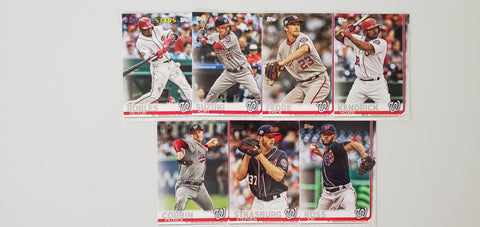2019 Topps Series 2 Team Set Washington Nationals (7 Cards)