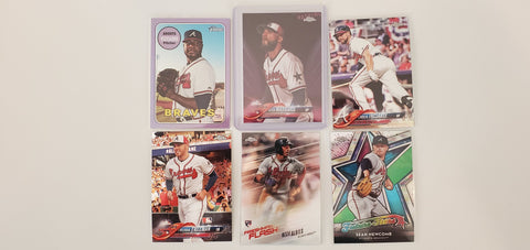 2018 Topps Chrome, Heritage, Pink, Purple, lot of 6 Braves Albies RC